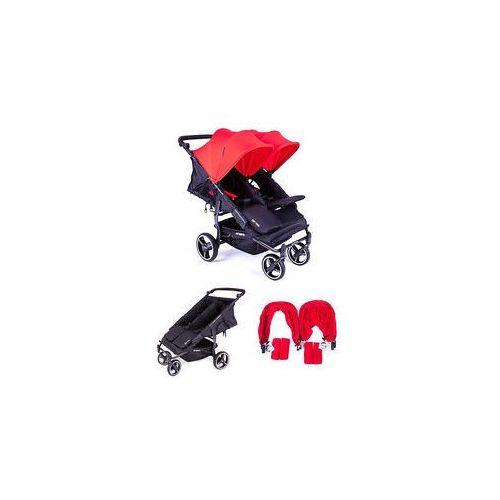 W�zek bli�niaczy easy twin 3.0s + zestaw kolorystyczny (red) marki Baby monsters