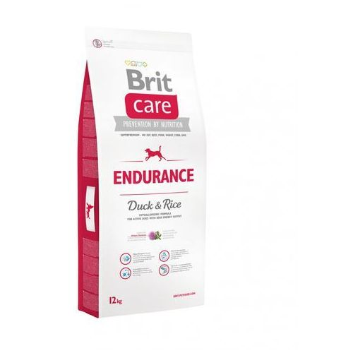 Brit Care Endurance Duck & Rice - Sucha Hipoalergiczna Karma Dla Aktywnych Psów Kaczka i Ryż 12 kg