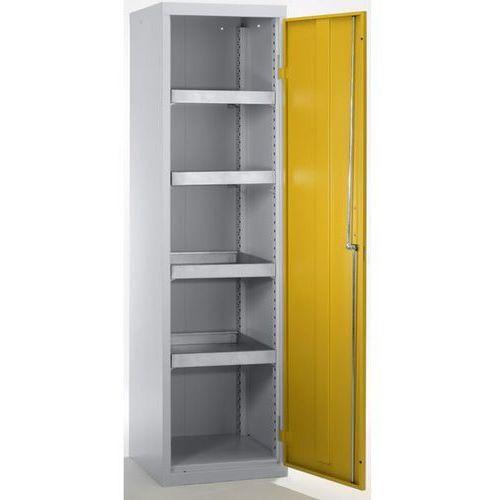 Szafa ekologiczna, drzwi zamknięte, wys. x szer. x głęb. 1800x500x500 mm, 4 półk marki Stumpf-metall