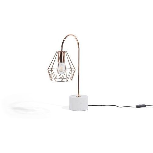 Lampa stołowa miedziana MOONI średnia