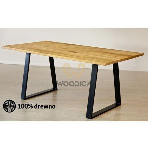 Woodica Stół dębowy na metalowych nogach 14 160x75x90