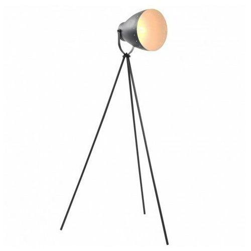 Lumes Czarna loftowa lampa podłogowa z włącznikiem - ex109-vella