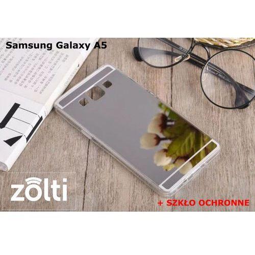 Zestaw | Slim Mirror Case Srebrny + Szkło ochronne Perfect Glass | Etui dla Samsung Galaxy A5