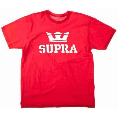 koszulka SUPRA - Above Regular Ss Tee Formula One-Wht (655) rozmiar: XL, kolor czerwony