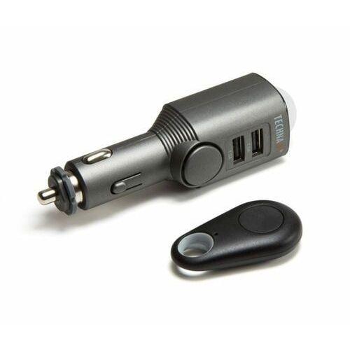 Technaxx alarm samochodowy z czujnikiem ruchu + pilot zdalnego sterowania i ładowarka samochodowa 2x USB 4743