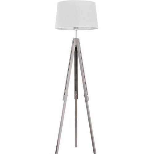 Tklighting Lampa drewniana z abażurem oprawa podłogowa stojąca tk lighting lorenzo 1x60w e27 szara 2973 (5901780529734)