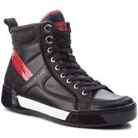 Sneakersy jeans - nicola s1774 black/black/scarlet marki Calvin klein