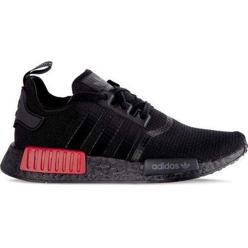 Adidas nmd_r1 core black core black lush red - buty męskie sneakersy