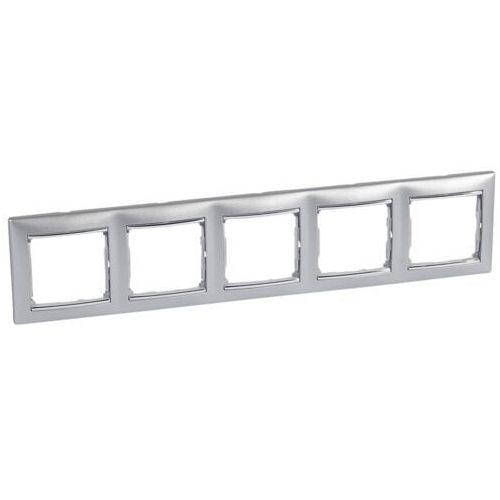 Legrand Ramka pięciowa pozioma valena 770355 aluminium/srebro (3245067703557)