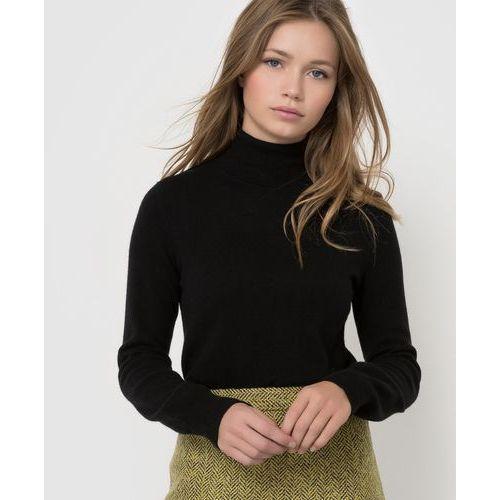 Sweter 100% wełny kaszmirowej, z golfem, długi rękaw