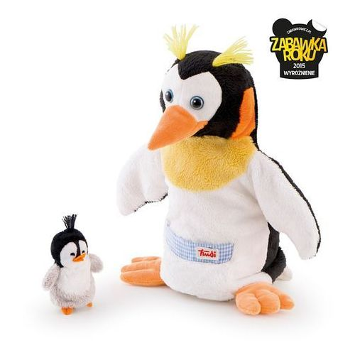 Trudi Pacynki na rękę pingwin i pingwinek mama i dziecko