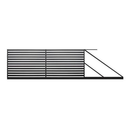 Brama przesuwna lara 2 prawa 4 x 1,54 m czarna marki Polbram steel group