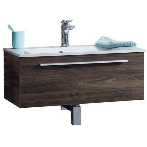 Yega 80 Zestaw umywalka konglomerat + szafka pod umywalkę FACKELMANN 74002 - wiąz madera \ 80 cm \ Konglomerat