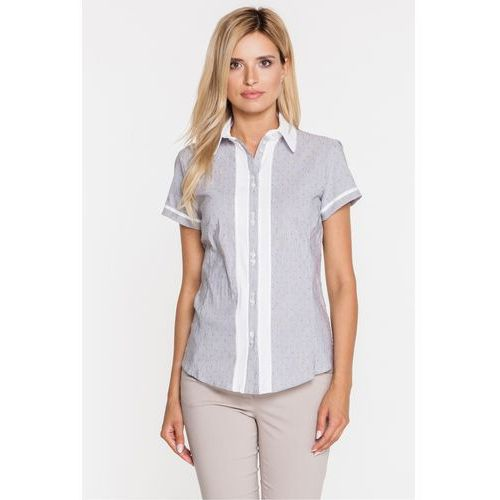 Duet woman Prążkowana koszula w kropki -
