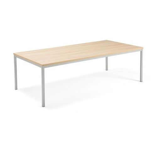 Aj produkty Stół konferencyjny modulus, 2400x1200 mm, rama 4 nogi, srebrny, dąb