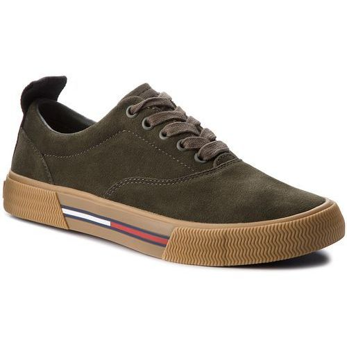 Tenisówki TOMMY JEANS - Oxford City Sneaker EM0EM00149 Forest Night 307