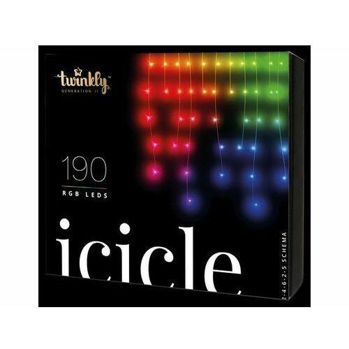TWINKLY Inteligentne lampki choinkowe 90 lampek RGB BT+WiFi, sople