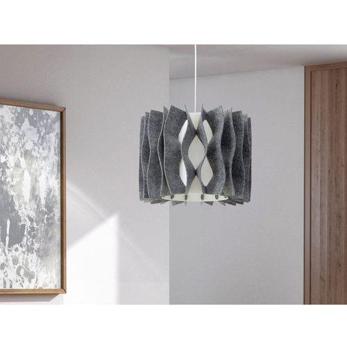 Lampa szara - sufitowa - żyrandol - lampa wisząca - MOZA