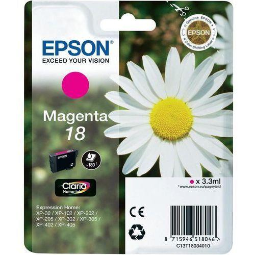Epson oryginalny ink C13T18034012, T180340, magenta, 3,3ml, Epson Expression Home XP-102, XP-402, XP-405, XP-302