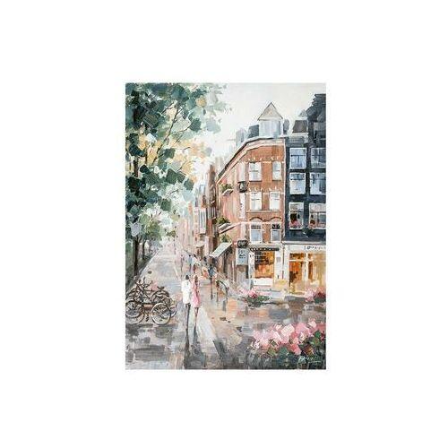 Obraz olejny malowany ręcznie PAINTY - Wys. 100 cm - drewno - wielokolorowy