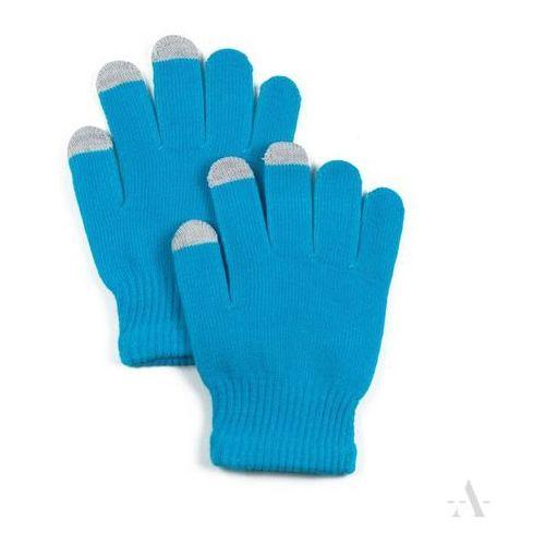 Turkusowe elastyczne rękawiczki damskie do ekranów dotykowych - turkusowy