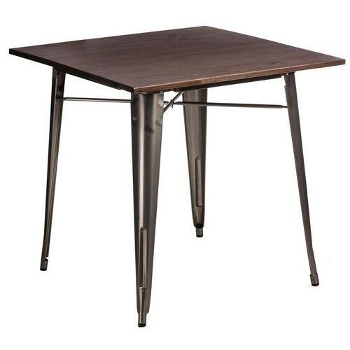 D2.design Stół paris wood metal sosna orzech