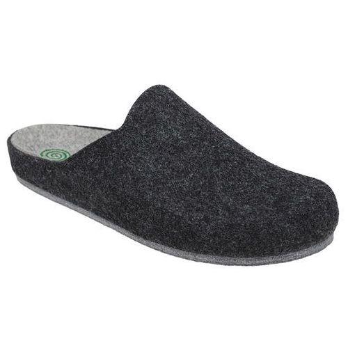 Dr brinkmann Kapcie 220215-9 grafitowe pantofle domowe ciapy zdrowotne