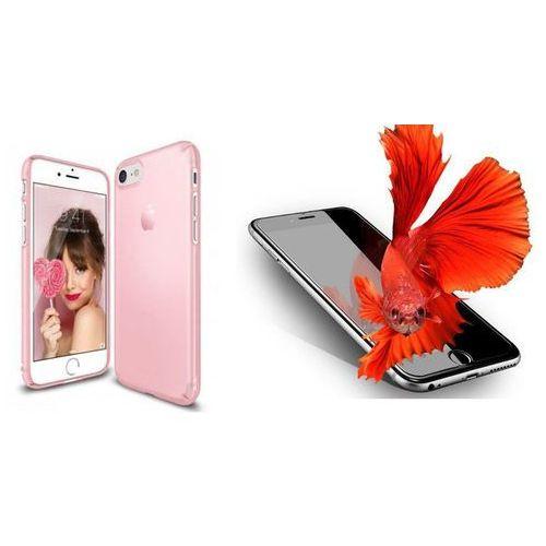 Zestaw | rearth ringke slim frost pink | obudowa + szkło ochronne perfect glass dla modelu apple iphone 7 marki Rearth / perfect glass