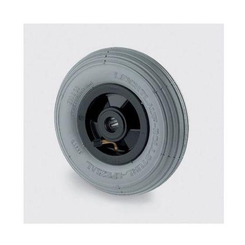 Pojedyńcze koło 200 mm, plastikowa tarcza, szara pneumatyka