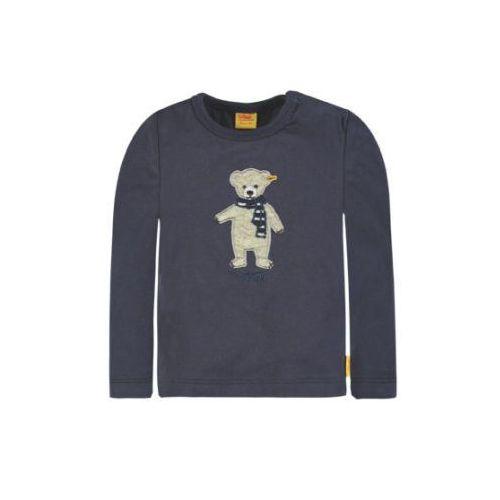 Steiff Collection SWEET TEDDY Bluzka z długim rękawem marine blue, kolor niebieski