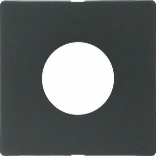 BERKER Q.1/Q.3 Płytka czołowa do łącznika i sygnalizatora świetlnego E10, antracyt aksamit, lakierowany 11246086