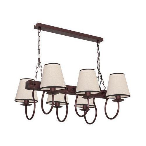 Lampa wisząca Luminex Carin 8695 lampa sufitowa 6x60W E14 brąz / beż, kolor Brązowy