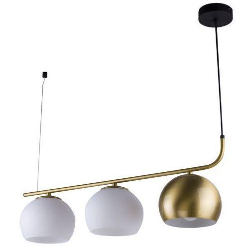 TK Lighting Castello 2784 lampa wisząca zwis oprawa 3x60W E27 biała / czarna / złota (5901780527846)