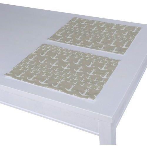 Dekoria podkładka 2 sztuki, kotwice beżowo-białe, 40 x 30 cm, wyprzedaż do -50%