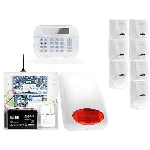 ZA12545 Zestaw alarmowy DSC 7x Czujnik ruchu Manipulator LCD Powiadomienie GSM, ZA12545