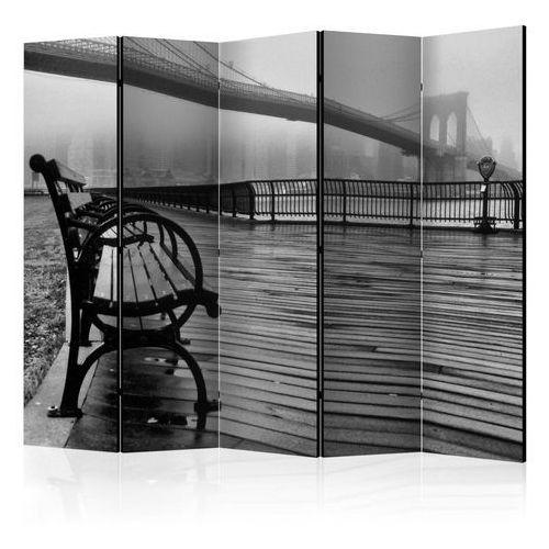 Parawan 5-częściowy - a foggy day on the brooklyn bridge ii [room dividers] marki Artgeist
