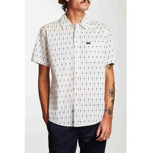 Brixton Koszula - charter s/s wvn white/black (whblk) rozmiar: m