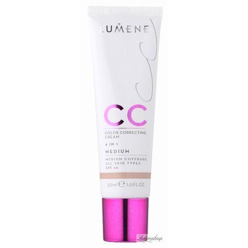 Lumene CC Color Correcting Cream 6 in 1, krem rozświetlacz, korektor, podkład - Fair