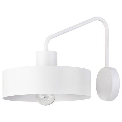 Sigma Kinkiet lampa ścienna jumbo 31536 metalowa oprawa okrągła na wysięgniku biała