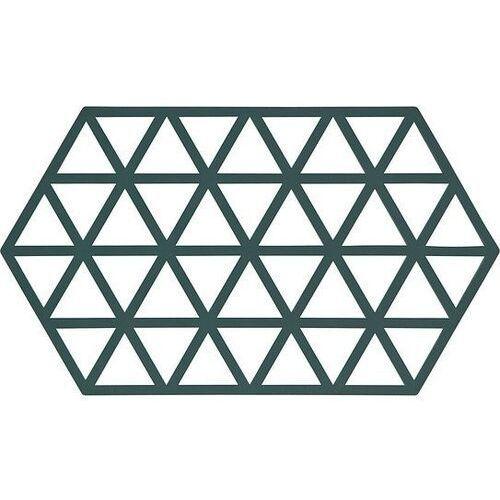 Podstawka pod gorące naczynia triangles 24 cm ciemnozielona