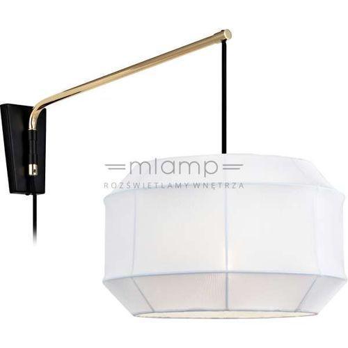 Markslojd Kinkiet lampa ścienna corse 105712 abażurowa oprawa z włącznikiem biała