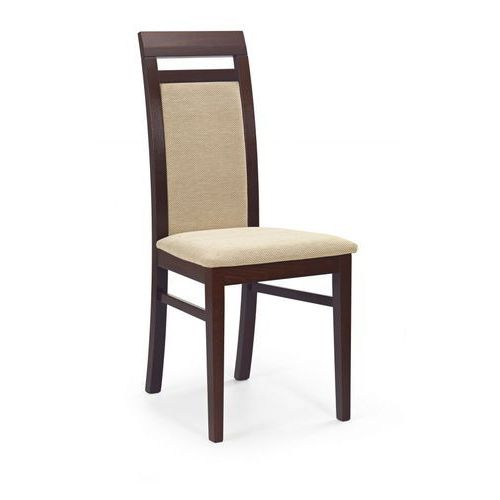 Halmar Albert krzesło ciemny orzech / tap: torent beige