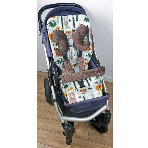 Wkładka do wózka, ochraniacze na pasy i pałąk + motylek liski marki Bubaland