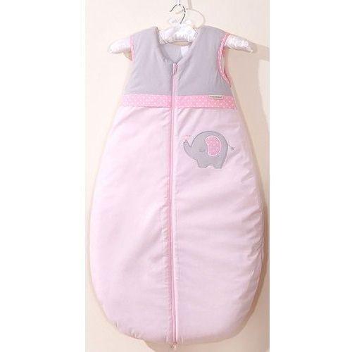 śpiworek niemowlęcy do 18 m-ca haftowany słonik różowy marki Mamo-tato