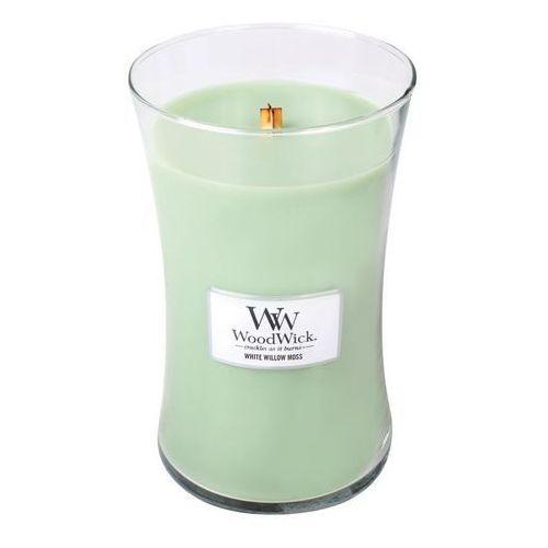 WoodWick - Świeca Duża White Willow Moss 175h