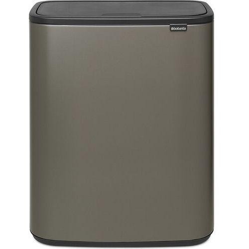 Brabantia - Kosz Bo Touch Bin, 2 x 30 l - platynowy - platynowy, 221521