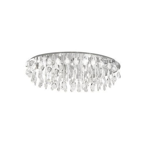 Plafon calaonda 93414 lampa kryształowa sufitowa 10x33w g9 owal chrom/kryształ marki Eglo
