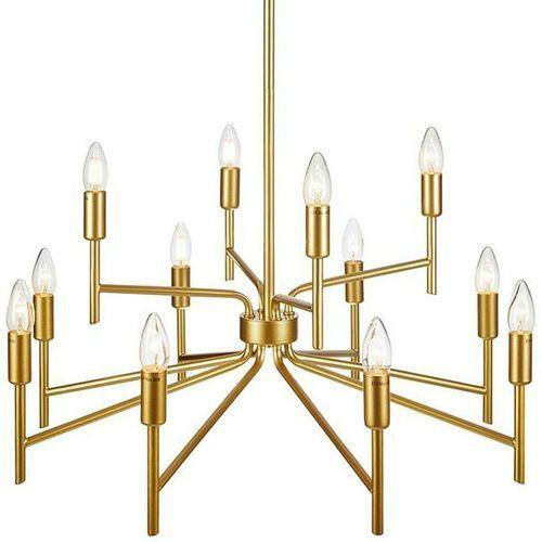 Markslojd Regent 108106 lampa wisząca zwis 12x40W E14 złota (7330024599178)