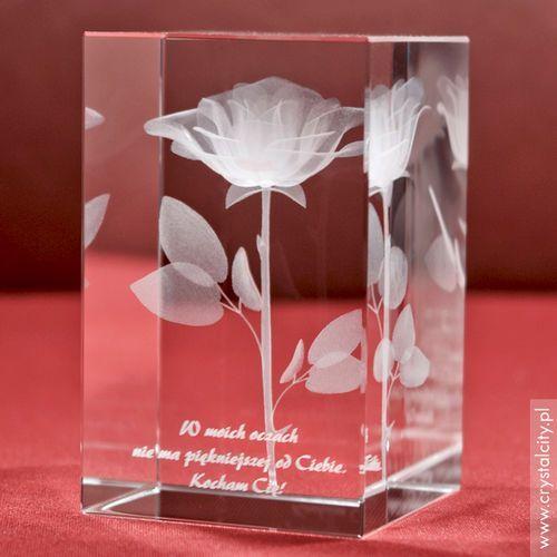 RÓŻA 3D Namiętności ♥ personalizowana statuetka 3D średnia • GRAWER 3D