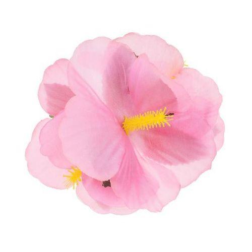 Go Hawajska przypinka duża kwiatek różowy - 1 szt.